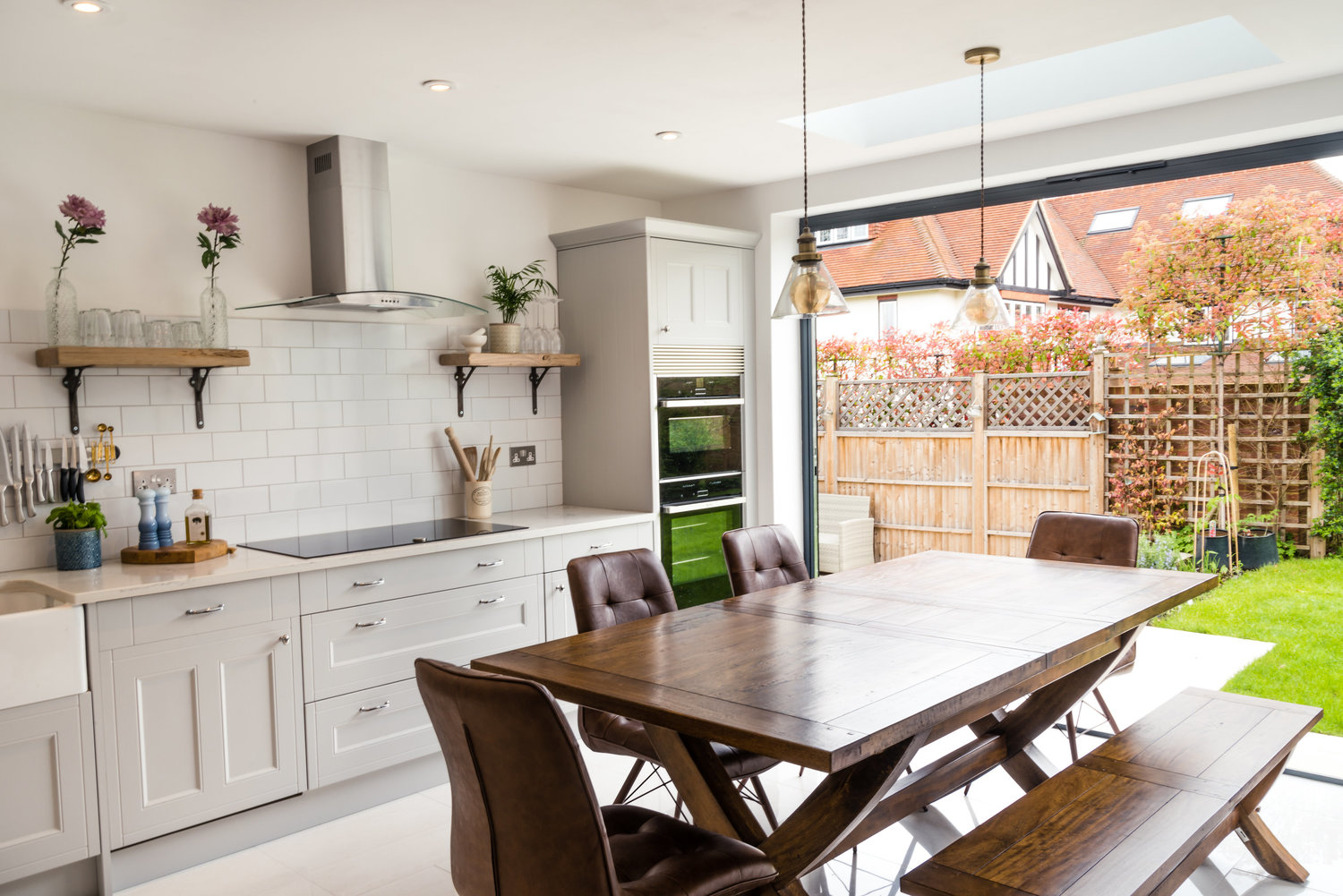 Modern Kitchen with French Doors