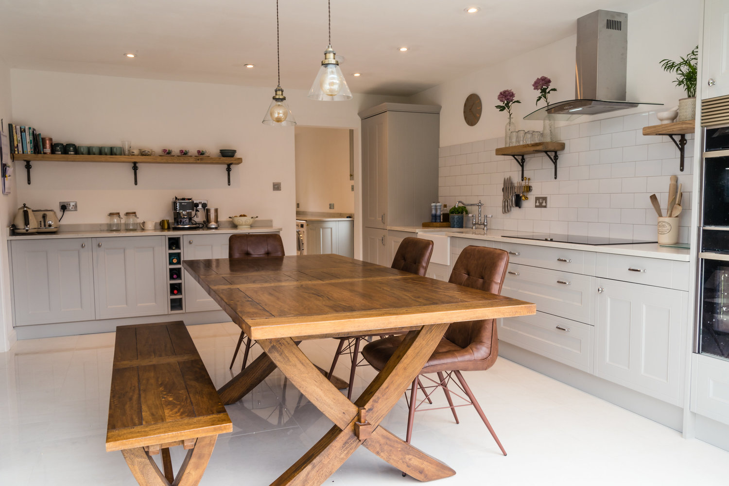 Kitchen with Oak Dinner Table