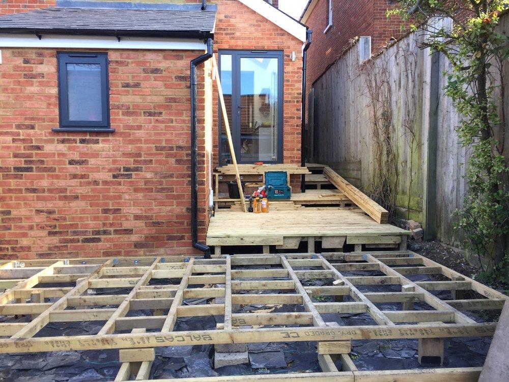 Fitting Garden Decking Area